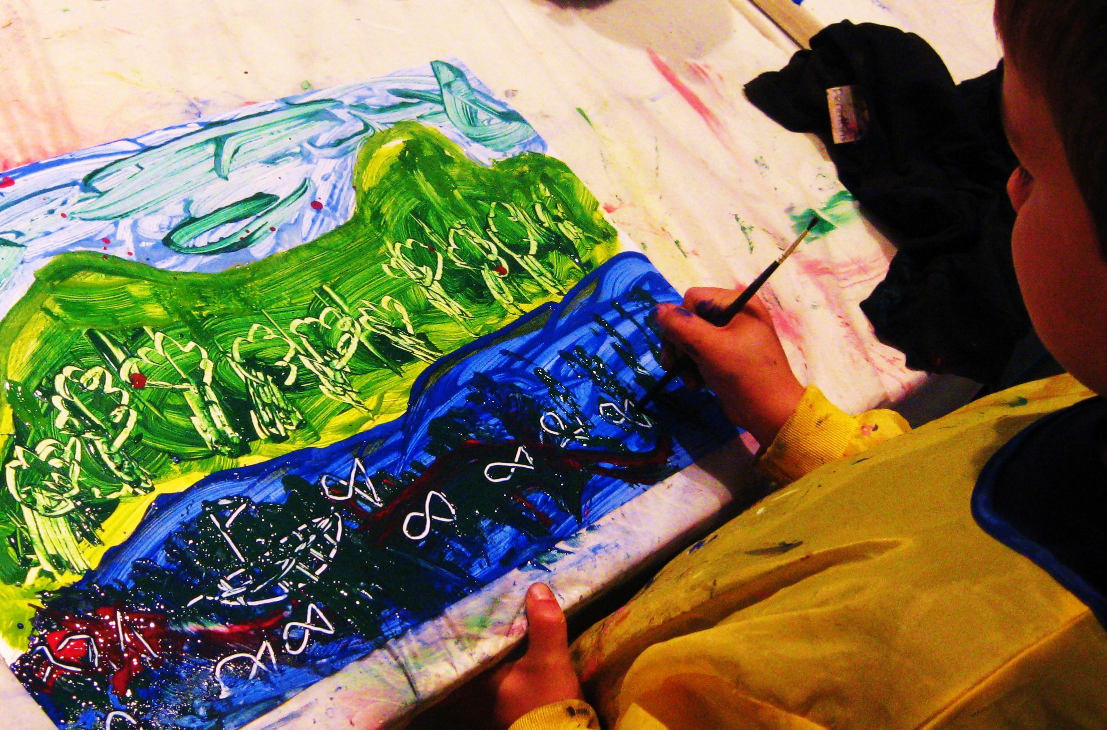 Painting drawing and watercolor classes for children 4 to 6 years old